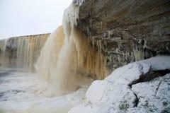 Ijzige waterval scape Stock Afbeelding