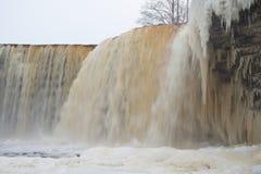Ijzige waterval scape Royalty-vrije Stock Foto's