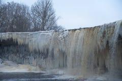 Ijzige waterval scape Royalty-vrije Stock Afbeelding