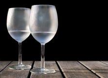 Ijzige wijnglazen Stock Foto