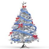 Ijzige Witte Kerstboom Stock Afbeeldingen