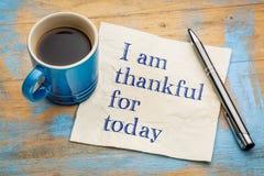 Ik ben dankbaar voor vandaag op servet stock foto's