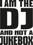 Ik ben DJ en niet een juke-box stock illustratie