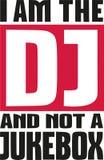 Ik ben DJ en niet juke-box het zeggen vector illustratie