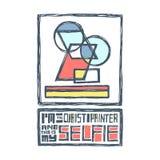 Ik ben een kubistische schilder en dit is mijn selfie royalty-vrije illustratie