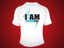 Ik ben krachtig t-shirtontwerp Stock Afbeeldingen
