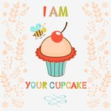 Ik ben uw cupcake Stock Foto's