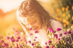 Ik ben weinig bloem stock fotografie