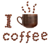 Ik drink koffie Stock Foto's