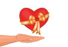 Ik geef u mijn hart! Royalty-vrije Stock Foto
