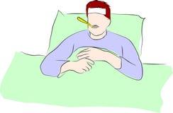 Ik heb een koorts stock illustratie