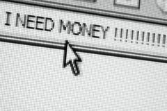 Ik heb geld nodig!!!! royalty-vrije stock foto