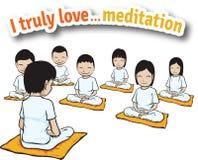 Ik houd echt van meditatie Stock Afbeeldingen
