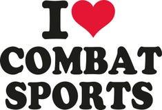 Ik houd gevechts van sporten royalty-vrije illustratie