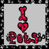 Ik houd kleurrijke van huisdieren Stock Foto's