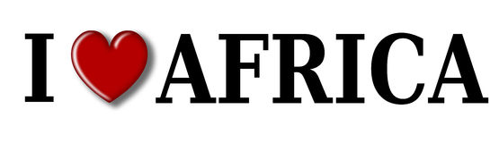 Ik houd van Afrika Royalty-vrije Stock Foto