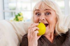 Ik houd van appelen! Royalty-vrije Stock Foto's