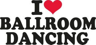 Ik houd van Ballroom dansen vector illustratie