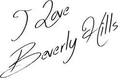 Ik houd van Beverly Hills California, de illustratie van het tekstteken royalty-vrije illustratie