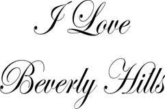 Ik houd van Beverly Hills California, de illustratie van het tekstteken vector illustratie