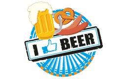 Ik houd van bier Royalty-vrije Stock Foto's