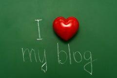 Ik houd van blogging Stock Fotografie
