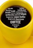 Ik houd van cafè Stock Foto's
