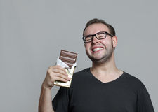 Ik houd van chocolade Stock Fotografie