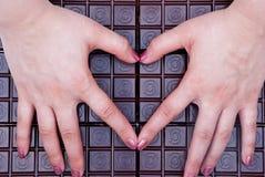 Ik houd van chocolade Stock Foto's