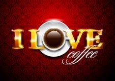 Ik houd van coffe Stock Afbeelding