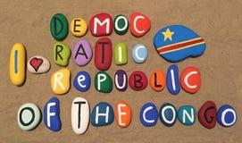 Ik houd van de Democratische Republiek de Kongo Stock Afbeelding