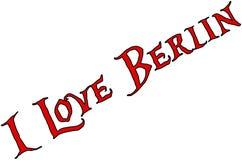 Ik houd van de illustratie van het de tekstteken van Berlijn royalty-vrije stock fotografie