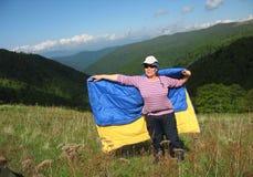 Ik houd van de Oekraïense Karpaten Stock Foto's