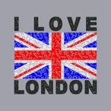 Ik houd van de Stad van Londen, typografie, grafiek vector illustratie