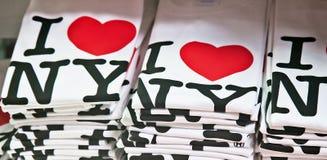 Ik houd van de T-shirts van New York Stock Afbeeldingen