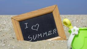 Ik houd van de zomer Royalty-vrije Stock Fotografie