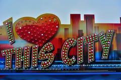 Ik houd van deze stad Stock Afbeelding