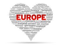 Ik houd van Europa Royalty-vrije Stock Afbeeldingen