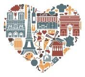 Ik houd van Frankrijk vector illustratie