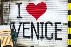 Ik houd van het Strand van Venetië stock afbeelding
