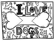 Ik houd van Honden Royalty-vrije Stock Foto's