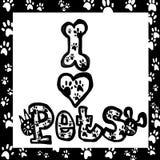 Ik houd van huisdieren Royalty-vrije Stock Afbeeldingen