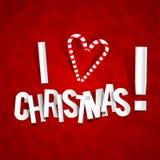 Ik houd van Kerstmis Royalty-vrije Stock Afbeeldingen