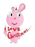 Ik houd van Kerstmis Royalty-vrije Stock Fotografie