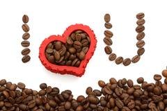 Ik houd van koffie Royalty-vrije Stock Afbeeldingen