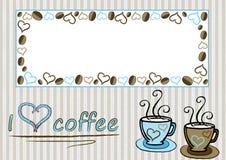 Ik houd van koffie Royalty-vrije Illustratie