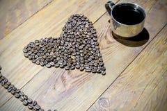 Ik houd van koffie & x28; espresso& x29; royalty-vrije stock afbeelding