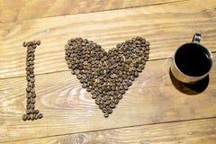 Ik houd van koffie & x28; espresso& x29; stock afbeeldingen