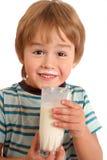 Ik houd van melk! Stock Foto's