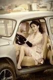 Ik houd van mijn auto Stock Foto